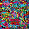 """""""10+(4 X2)"""" by Derek R. Audette (2013) - Acrylic & ink on canvas."""