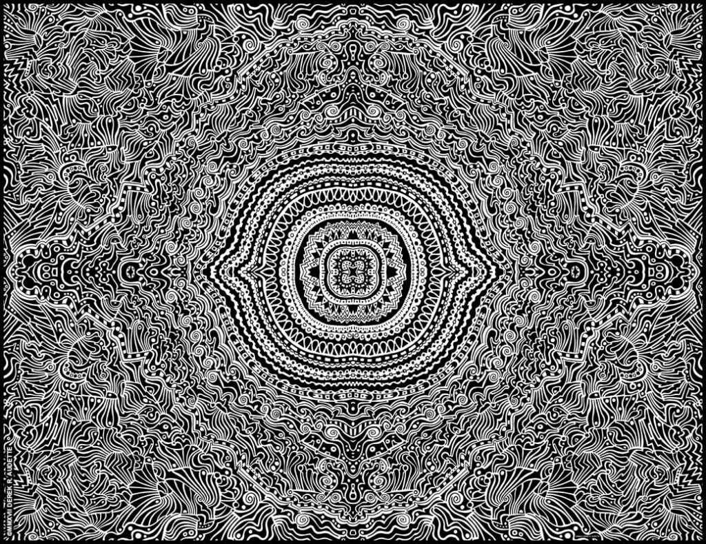"""""""The Most Profound Contemplation of the Most Secret Things"""" - Digital manip. of original ink on paper work by Derek R. Audette ©MMXVII (All rights reserved)"""