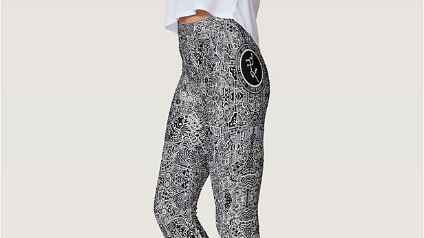 Derek R. Audette logo art leggings